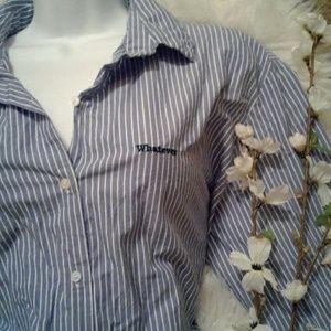 Zara L Stripe Button Up Business Shirt